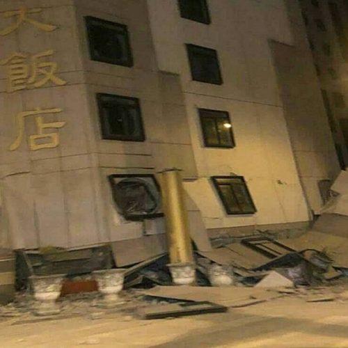 Terremoto de 6,4 graus derruba hotel em Taiwan
