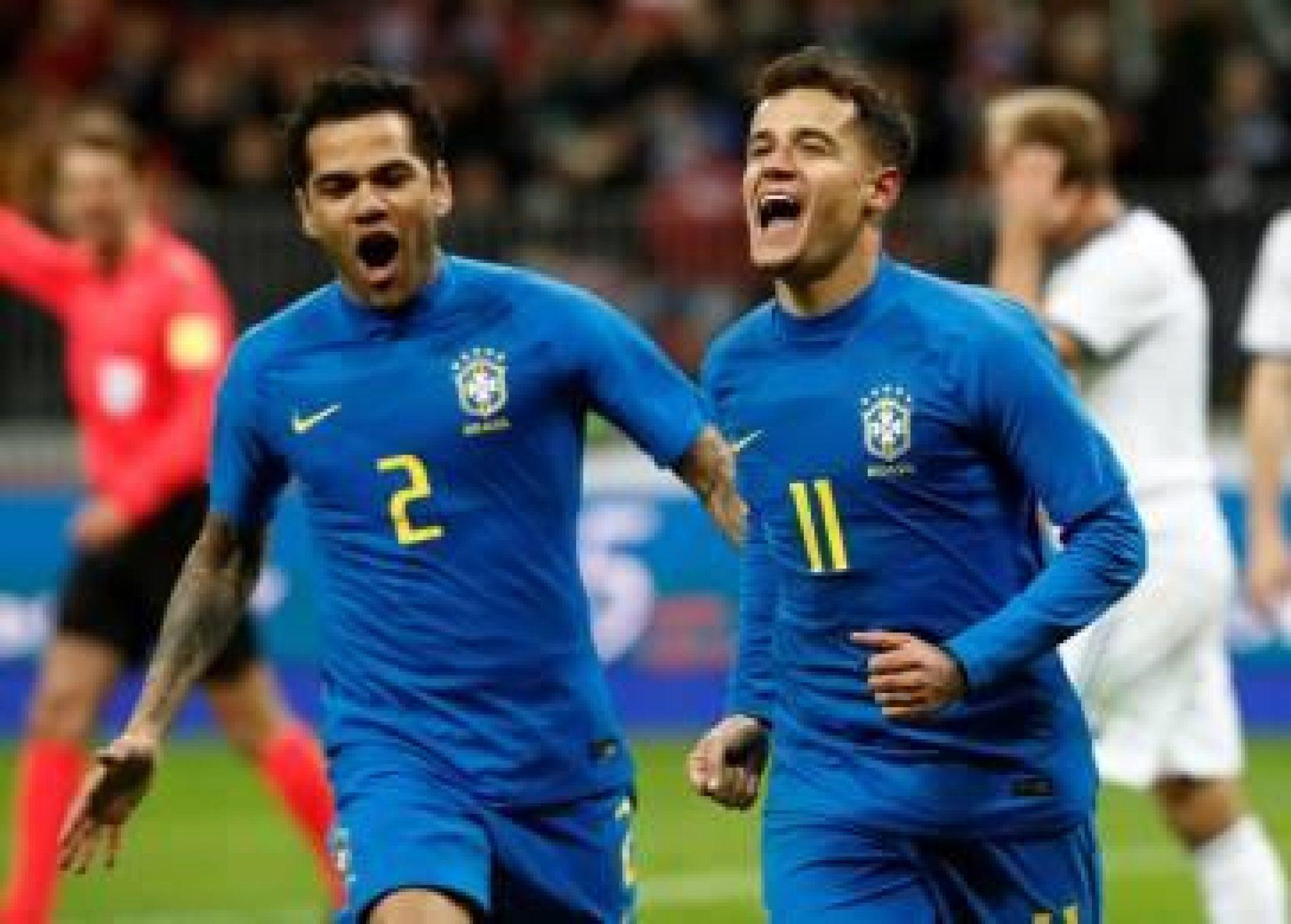 Brasil acorda no 2º tempo e goleia a Rússia em amistoso