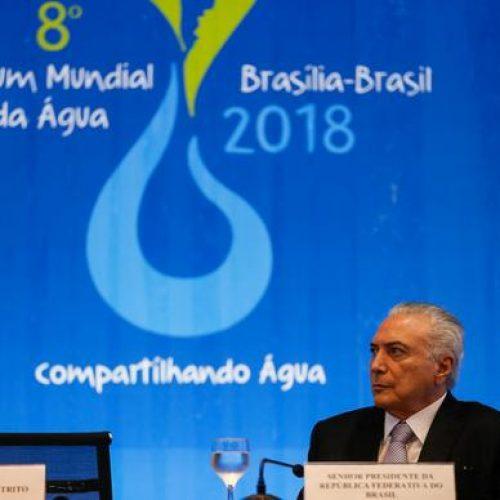 Crescimento sustentável depende do acesso à água, diz Temer