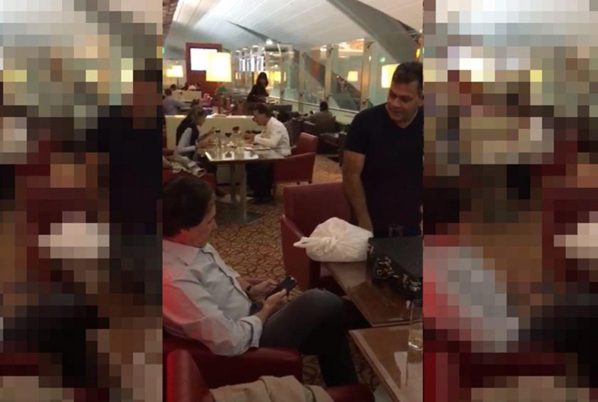 Eunício Oliveira e dois senadores são hostilizados e xingados em Dubai; ASSISTA