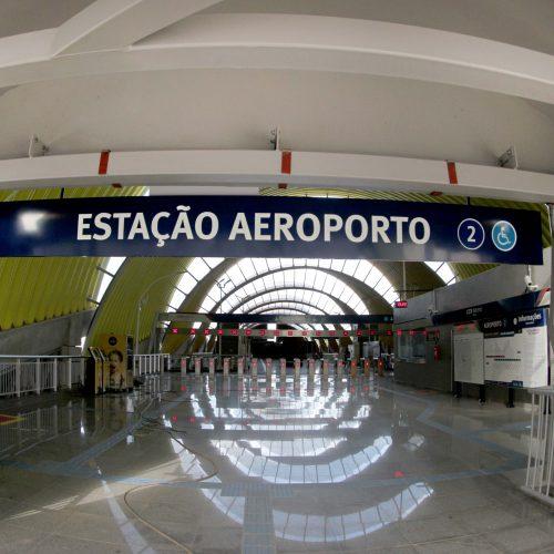 Estação Aeroporto do Metrô tem capacidade para 17 mil pessoas por hora