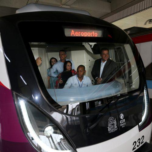 Rui entrega Estação Aeroporto e conclui linha 2 do metrô