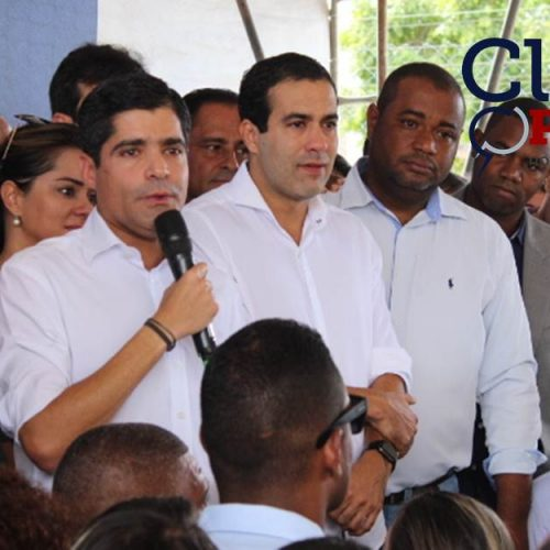 Momento em que o prefeito ACM Neto anuncia que permanece na prefeitura de Salvador; ASSISTA