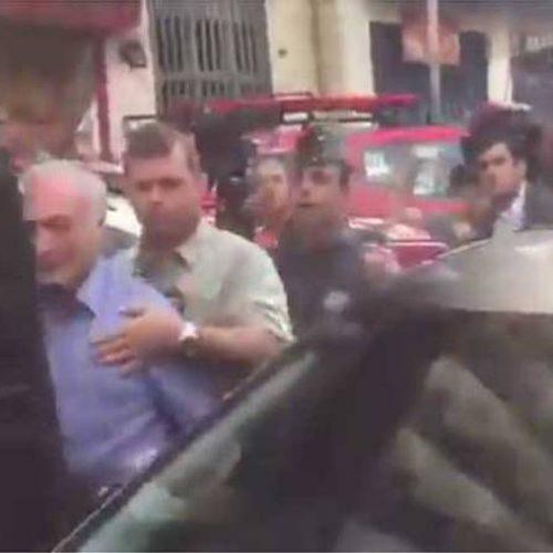 Temer deixa local de prédio desabado em SP debaixo de vaias e xingamentos; assista ao vídeo