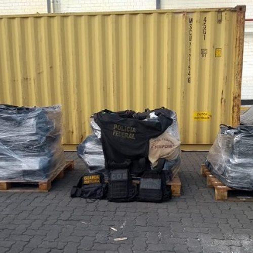 PF apreende 1,5 tonelada de cocaína no porto de Salvador