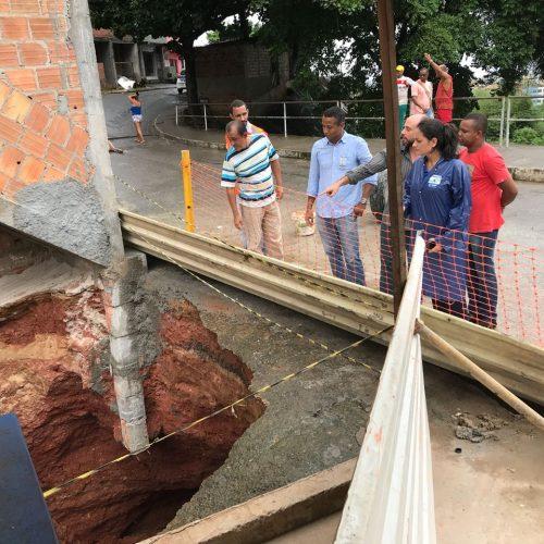 Salvador: Prefeitura fará sondagem de terreno para iniciar contenção e reparo de cratera