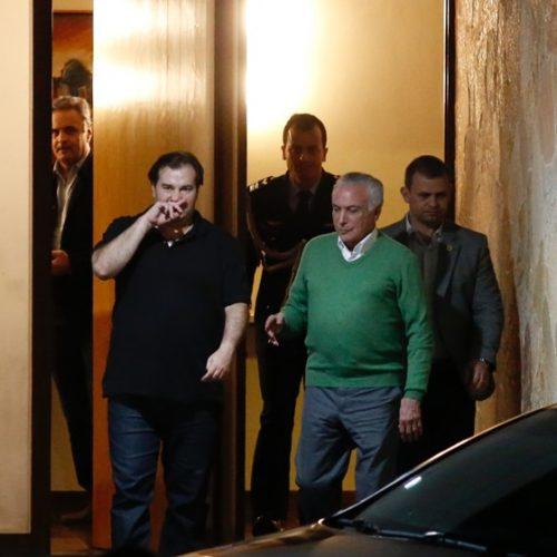 Em jantar, Maia, Temer e Aécio discutem candidatura tucana à Presidência