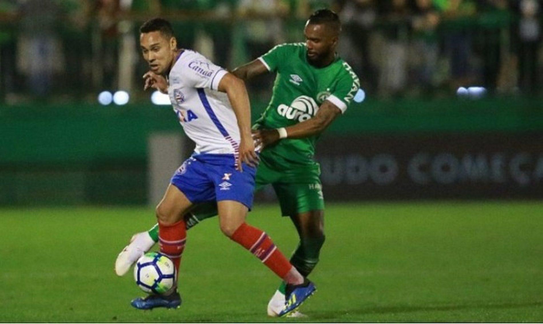 Bahia empata com a Chapecoense e segue na zona de rebaixamento do Campeonato Brasileiro