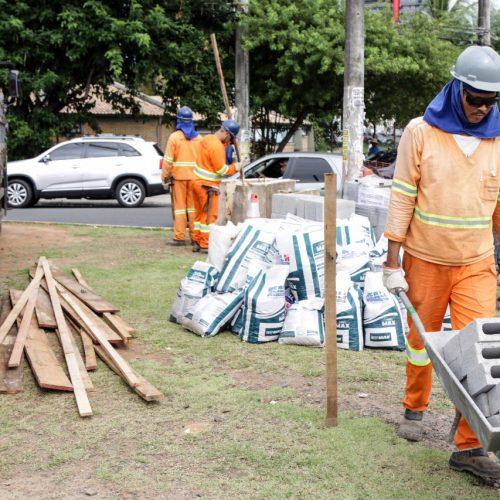 Consórcio BRT inicia obras de revitalização de calçada em via marginal da ACM