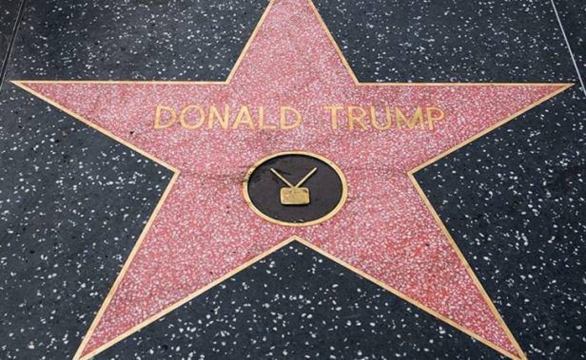 Estrela da Fama de Trump é alvo de vandalismo