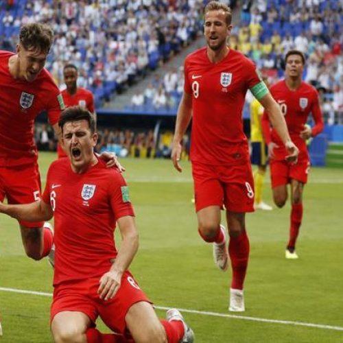 Inglaterra derrota Suécia por 2 a 0 e volta à semifinal da Copa do Mundo após 28 anos