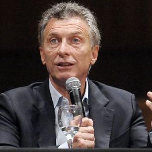 Macri reconhece que crescimento econômico da Argentina vai diminuir