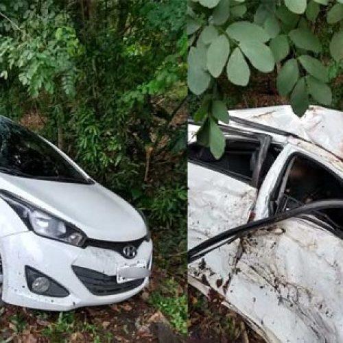 Mulher morre e motorista fica ferido em acidente na rodovia Ilhéus-Itabuna