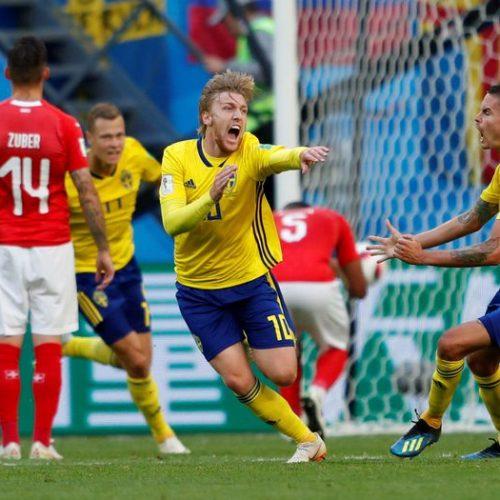 Suécia vence Suíça e avança para as quartas de final