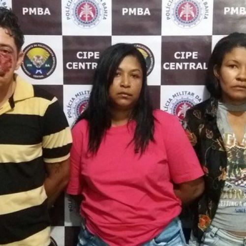 Jequié: Ex-presidiário e duas mulheres são presos por tráfico de drogas