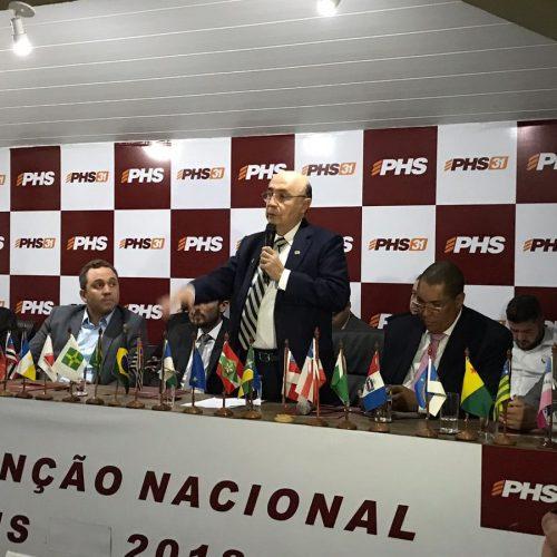 Em convenção, PHS decide apoiar candidatura de Henrique Meirelles