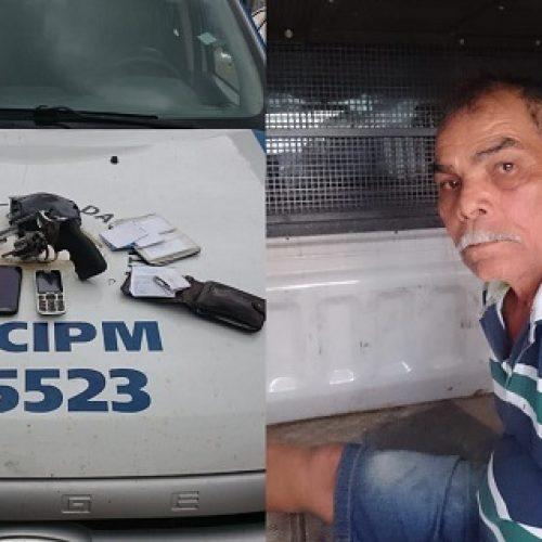 Foragido da Justiça é preso com revólver em Dário Meira