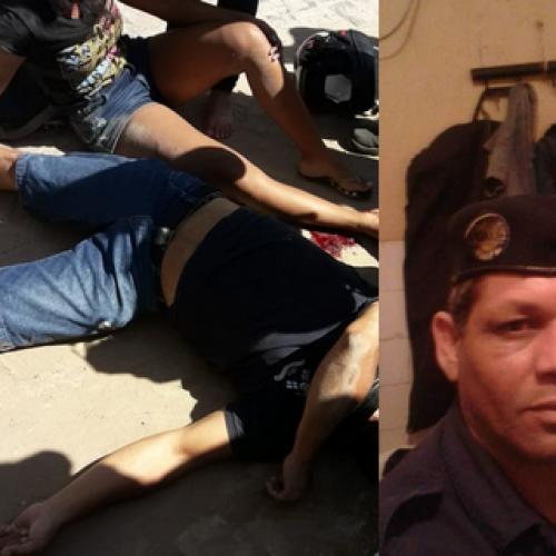 Jequié: Guarda municipal é assassinado a tiros enquanto pilotava moto e filha é baleada