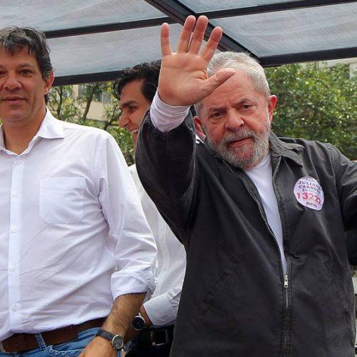 Pesquisas não podem simular cenários com Haddad e sem Lula após dia 15