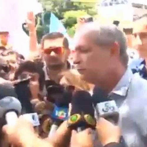 Ciro Gomes empurra, xinga e manda prender repórter; ASSISTA