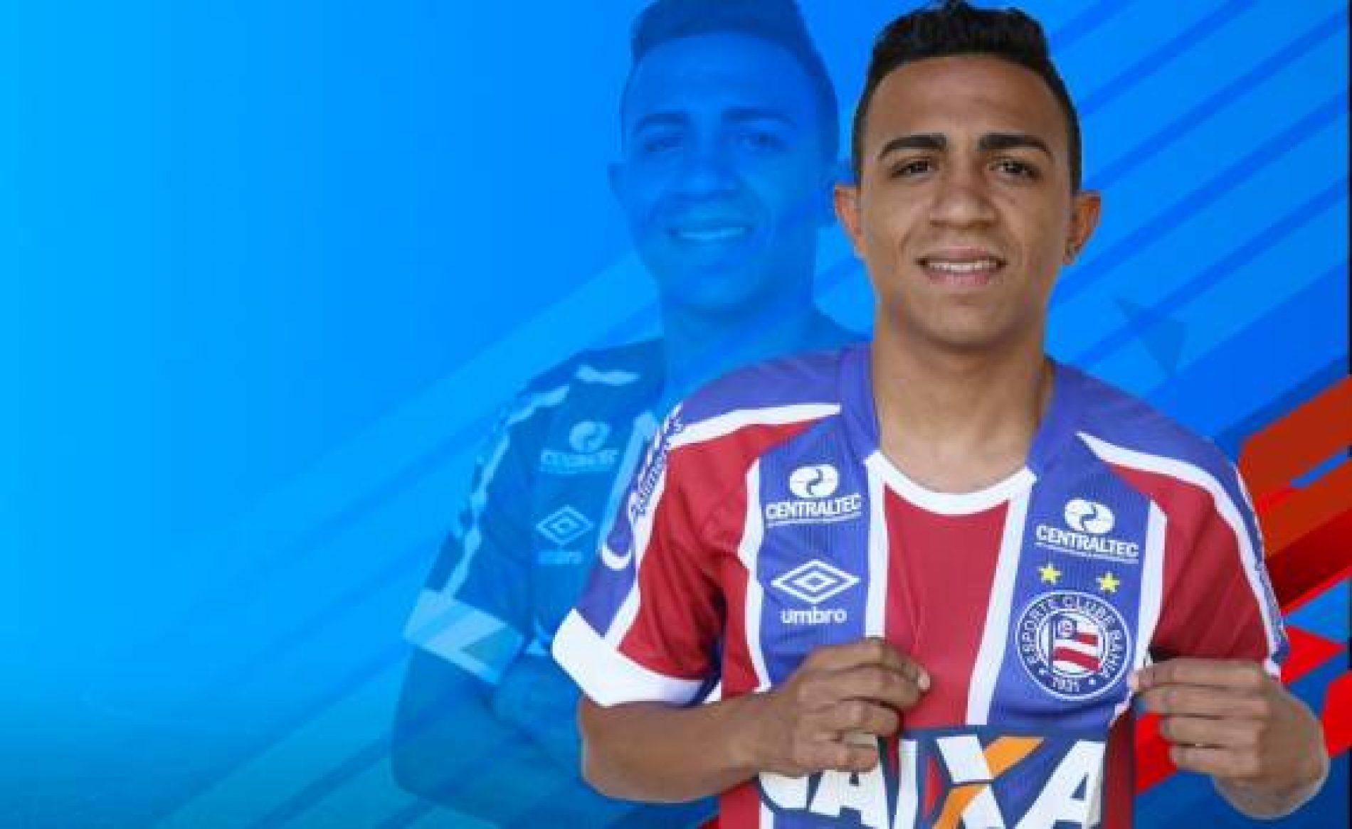 Emprestado pelo Náutico, Volante Luiz Henrique é anunciado oficialmente pelo Bahia
