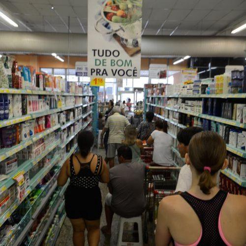 Vendas dos supermercados crescem 1,91% em sete meses