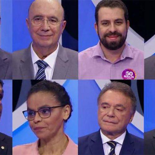 Debate no SBT: candidatos à Presidência poupam Bolsonaro e miram ataques em Haddad