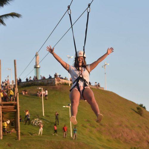 Morro do Cristo com tirolesa é nova opção turística em Salvador