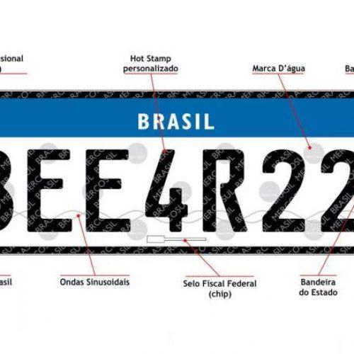 Contran suspende novas placas de carro com padrão Mercosul