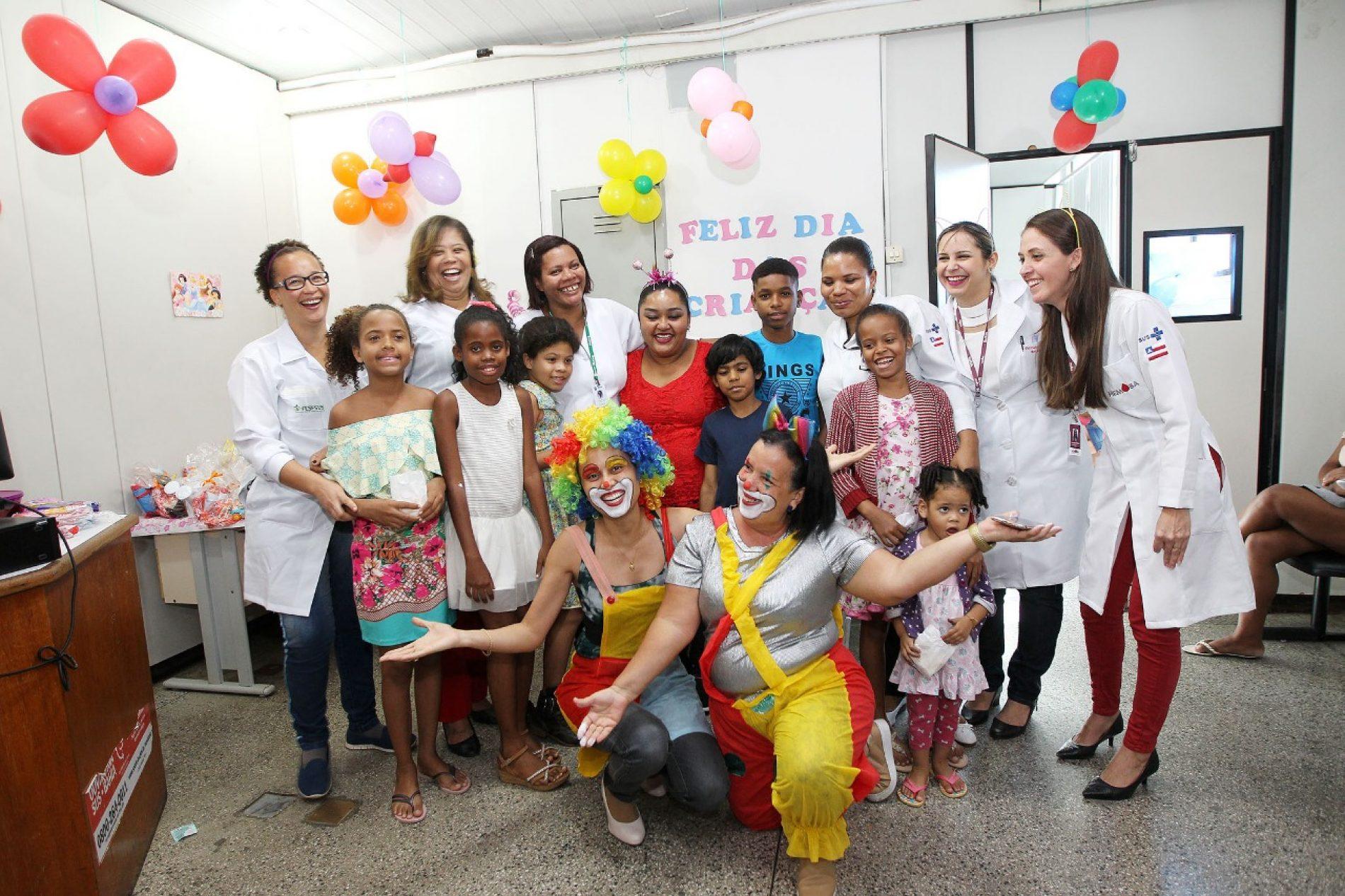 Dia das Crianças é comemorado com brincadeiras na Fundação Hemoba