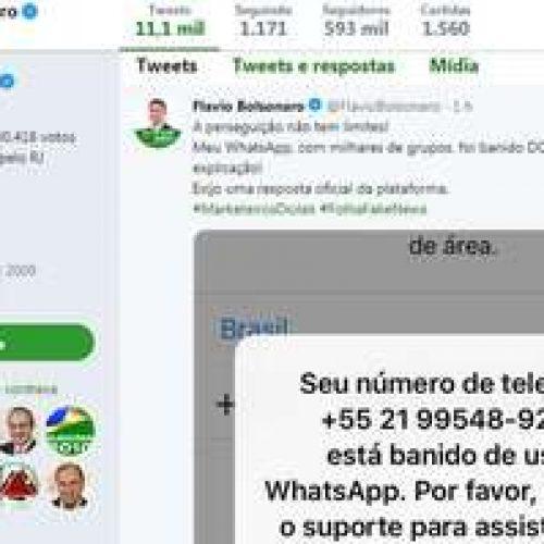 Filho de Bolsonaro é banido pelo WhatsApp