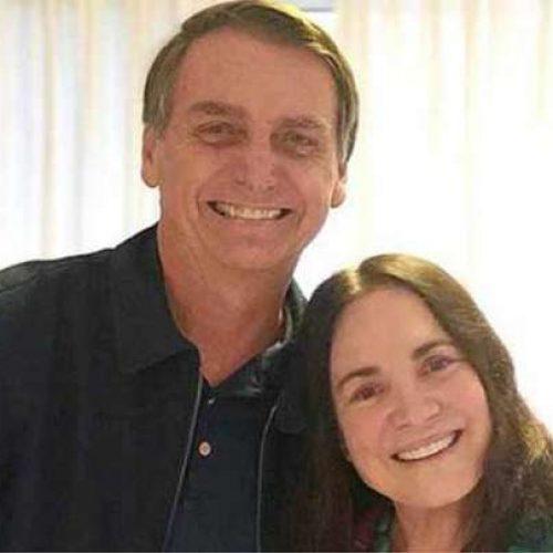 'Homofobia de Bolsonaro é da boca para fora', diz Regina Duarte