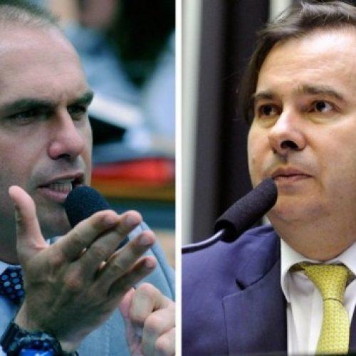 Eduardo Bolsonaro diz que PSL não vai apoiar Rodrigo Maia para a presidência da Câmara