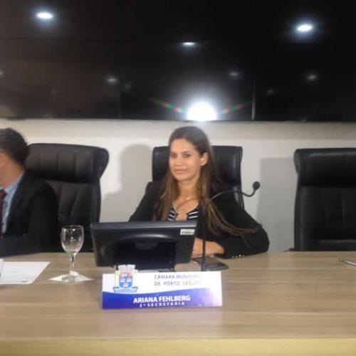 Ariana Fehlberg é eleita presidente da Câmara de Vereadores de Porto Seguro