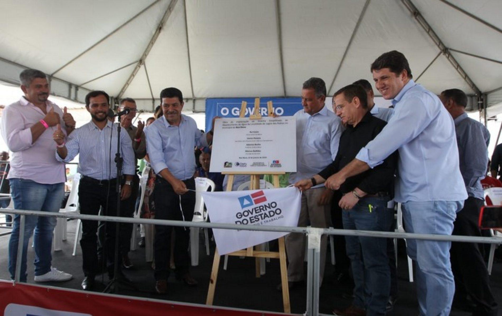 Em Boa Nova, Rui entrega obras de abastecimento de água com investimento de mais de R$ 2,7 mi