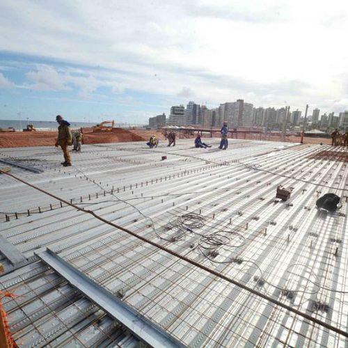 Obras de Centro de Convenções seguem em ritmo acelerado