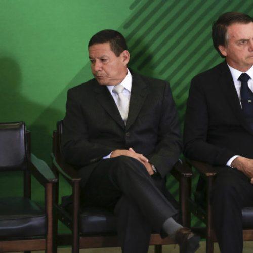 Sem Bolsonaro, Mourão comandará reunião ministerial nesta terça (5)